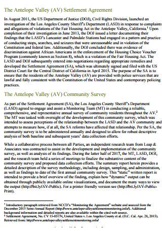 Community Survey Final Report