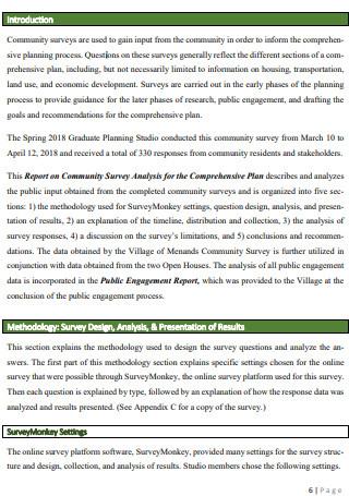 Community Surveys Comprehensive Plan