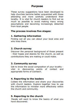 Community Surveys and Church
