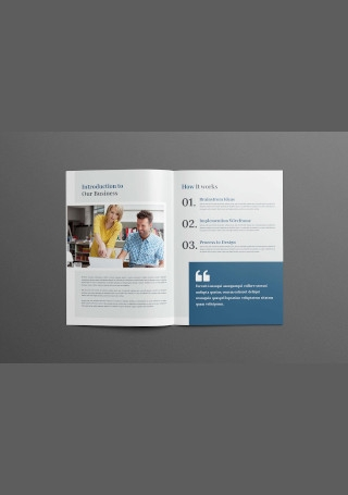 Company Profile Business Brochure InDesign