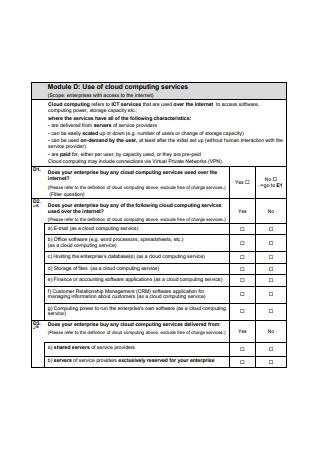 Computing Services of Community Surveys