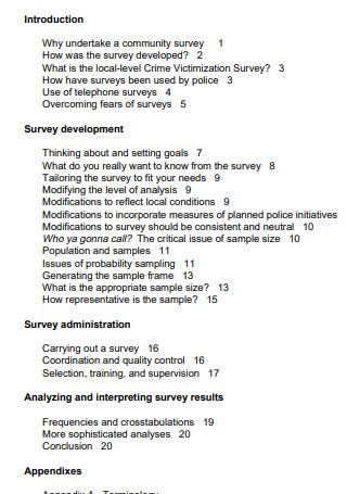 Conducting Community Surveys1