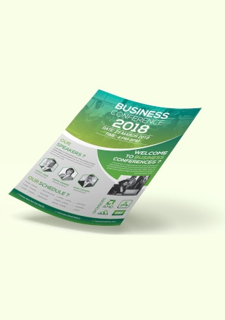 Conference Flyer in Vector EPS