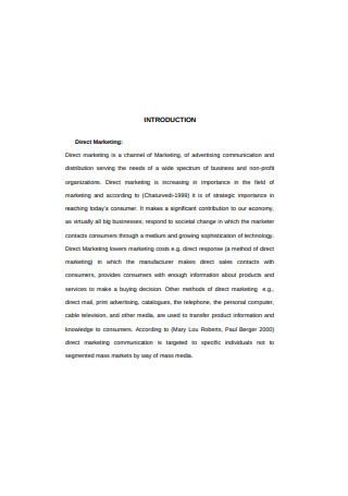 Consumer Direct marketing Sample1