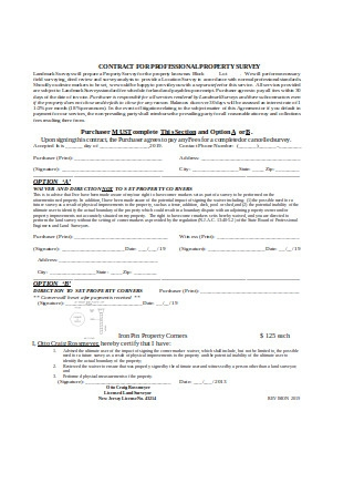 Contract for Professional Property Survey