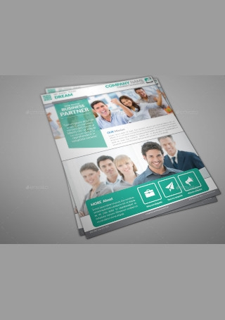 Corporate Business Flyer Print InDesign