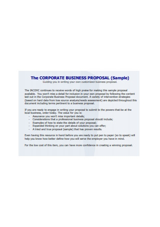 Corporate Business Proposal Sample