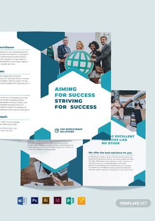 Corporate Company Bi Fold Brochure Template