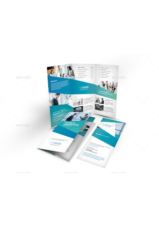 Corporate Company Trifold Brochure in Vector EPS