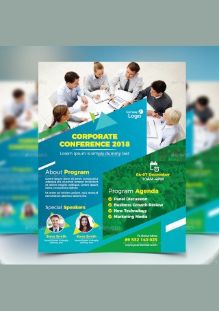 Corporate Conference Flyer InDesign