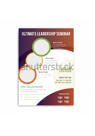 Corporate Conference Flyer in Vector EPS
