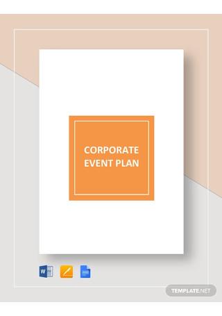 Corporate Event Plan Template