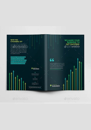 Corporate Marketing Bi Fold Brochure