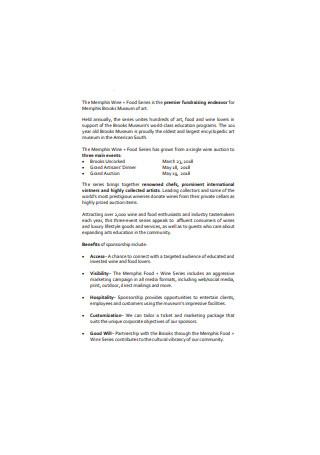 Corporate Sponsorship Proposal Sample