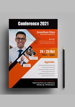 Creative Conference Flyer in Vector EPS