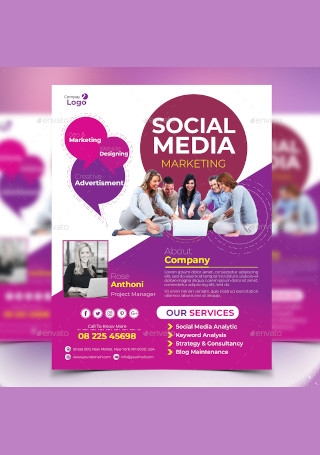 Creative Social Media Marketing Flyer