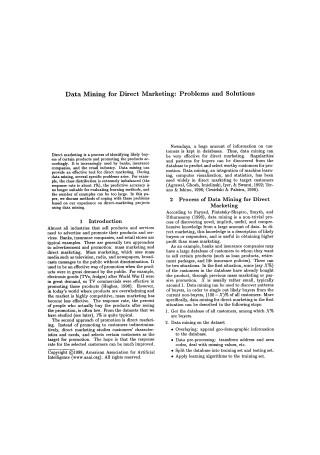 Data Mining for Direct Marketing