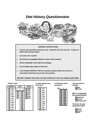 Diet History Questionnaire