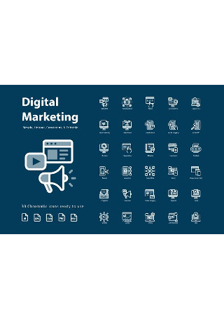 Digital Marketing Chromatic Icons