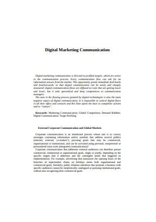 Digital Marketing Communication