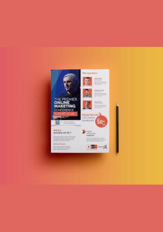 Digital Marketing Conference Flyer Sample