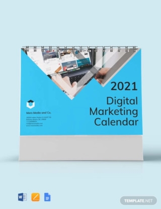 Digital Marketing Desk Calendar