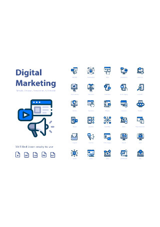 Digital Marketing Filled Icons