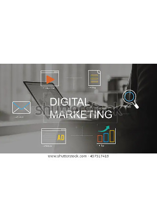 Digital Marketing Media Technology Graphic