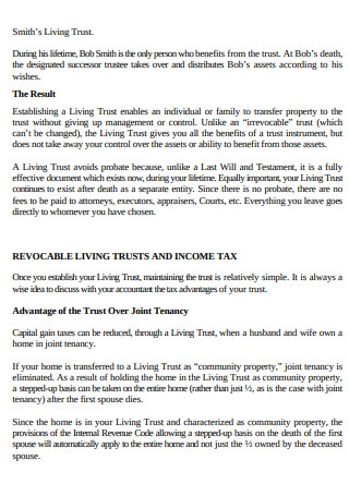 Document of People Living Trust