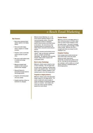 E Reach Email Marketing Sample