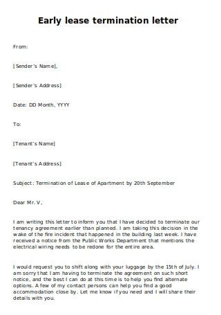 Sample Letter To Break Lease Agreement from images.sample.net