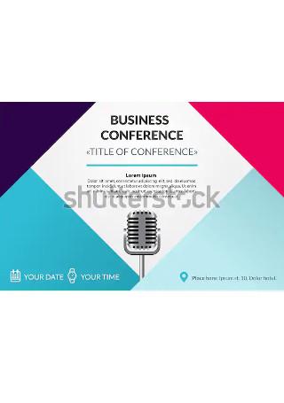 Elegant Business Conference Invitation