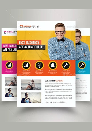 Elegant Business Marketing Consultant Flyer