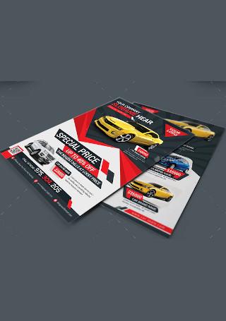Elegant Car Sale Flyer