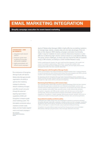 Email Marketing Integration Sample