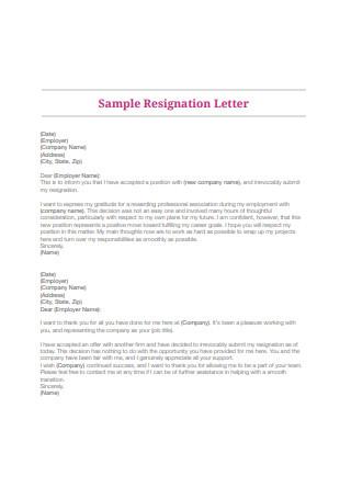 Employee Resignation Letter1