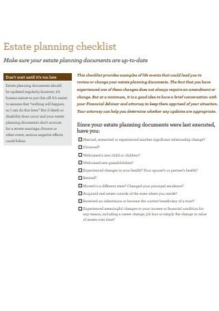 Estate Planning Checklist in PDF