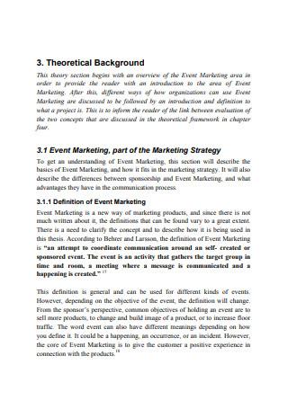 Evaluation of Event Marketing