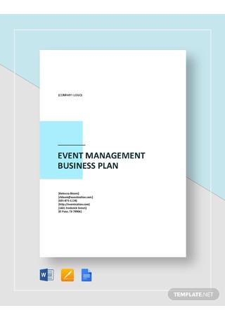 Event Management Business Plan Template