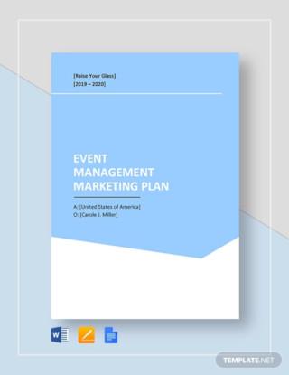 Event Management Marketing Plan