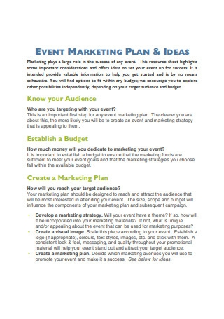 Event Marketing Ideas and Strategies
