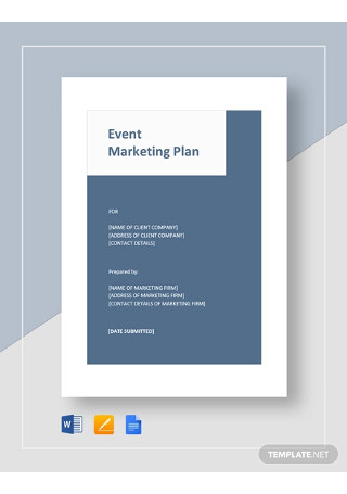 Event Marketing Plan Templates