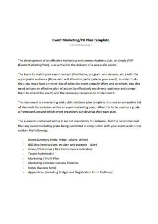 Event Marketing Plan2