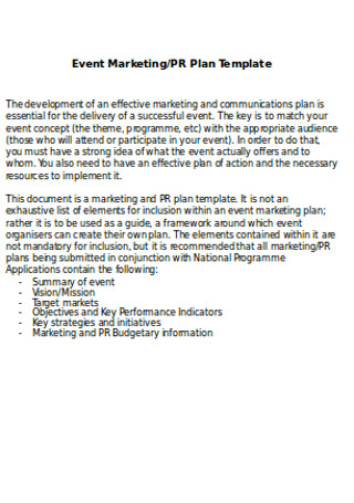 Event Marketing Plans