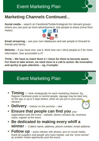 Event marketing planning and Strategy