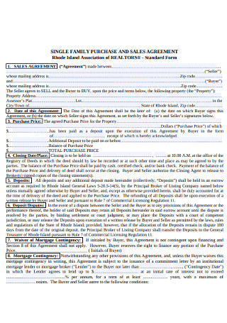 Family Sales Purchase Agreement
