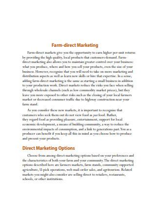 Farm Direct Marketing