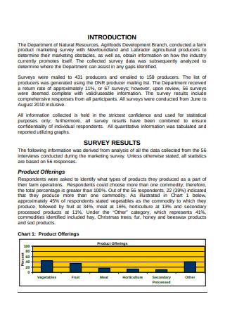 Farm Product Marketing Survey Report