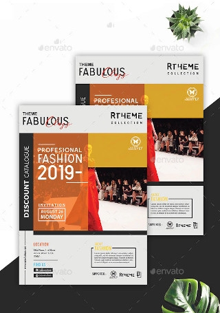 Fashion Modern Flyer in Vector EPS