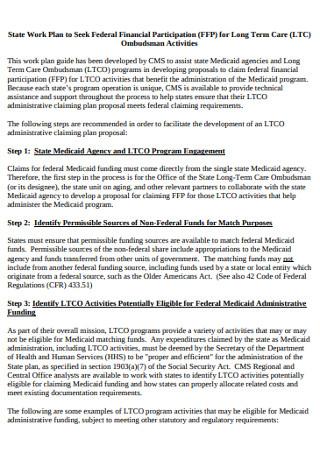 Financial Participation Work Plan